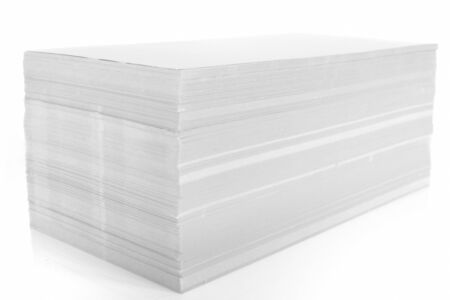 set of stack of white paper on white background. Stock Photo - 10830702