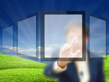 artwork for business idea from business person. Stock Photo - 11007720