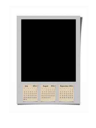 SImple and modern artwork of 2012 calendar. photo