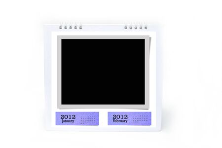 2012 table type calendar on white background. photo