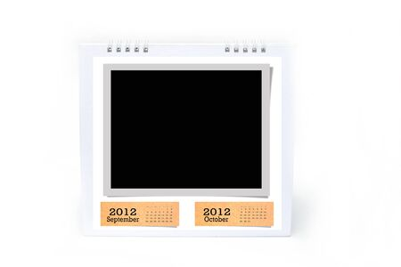 2012 table type calendar on white background. Stock Photo - 11284529