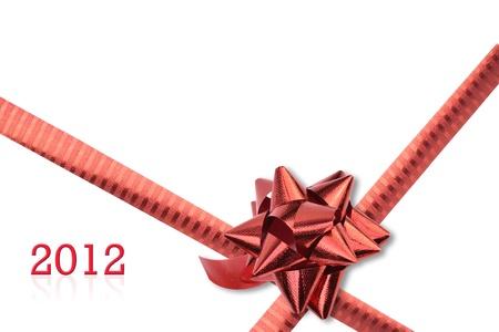 red ribbon set  isolated on white background. Stock Photo - 11284701