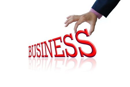 artwork of business idea on white background. photo
