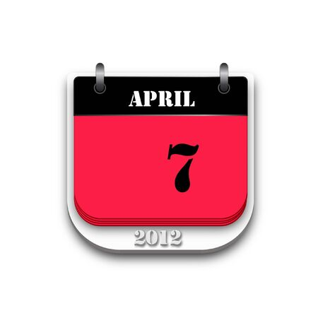Two tone 2012 calendar on white background. photo