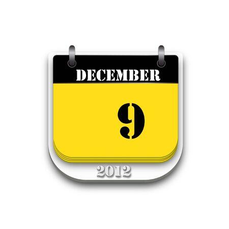 two tone: Two tone 2012 calendar on white background.