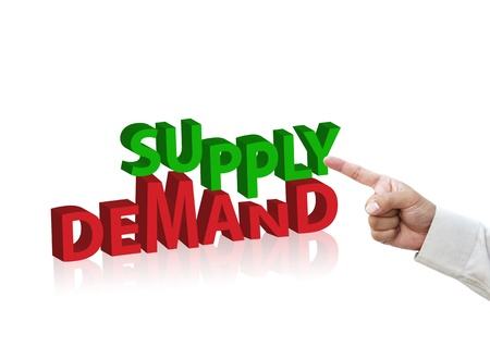 point of demand: business concept from three dimension words.