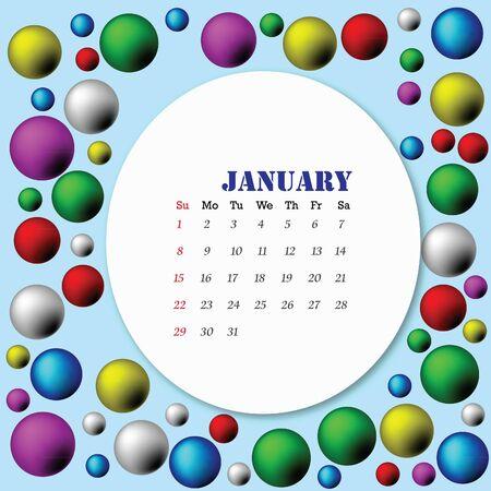 vector of 2012 calendar. Stock Vector - 11413350