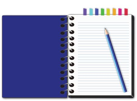 teared: vector of blank notepad.