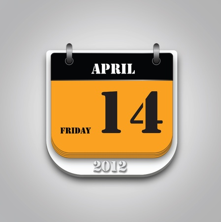 vector of 2012 calendar. Stock Vector - 11413437