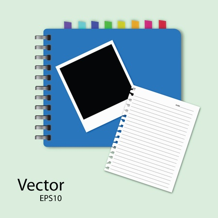 instant message: vector of blank notepad.