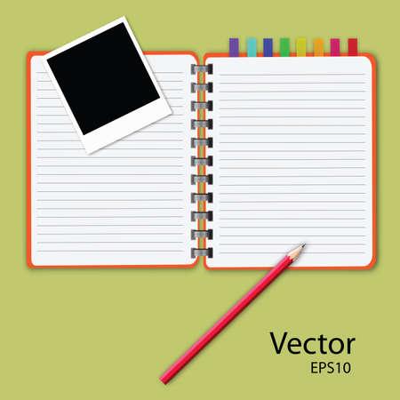 vector of blank notepad. Vector