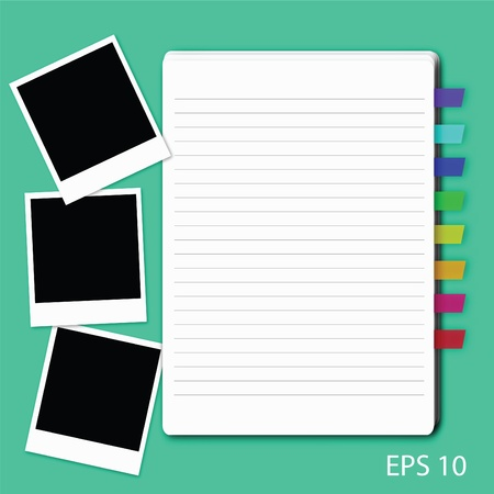 vector of blank paper. Illustration