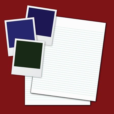 vector of blank paper. Vector
