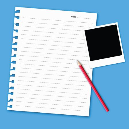 instant message: vector of blank paper. Illustration
