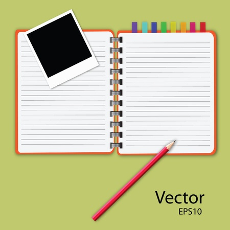 open diary: vector of blank notepad.