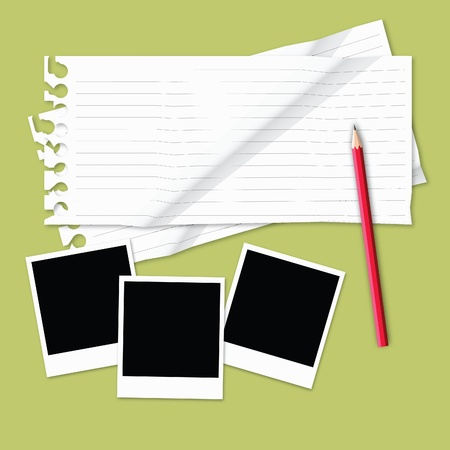 blank crumped paper on light color background. Stock Photo - 11676363