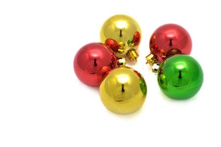 Color decoration balls on white background. Stock Photo - 11676451