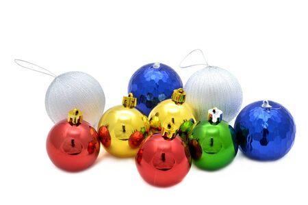 Color decoration balls on white background. Stock Photo - 11676434