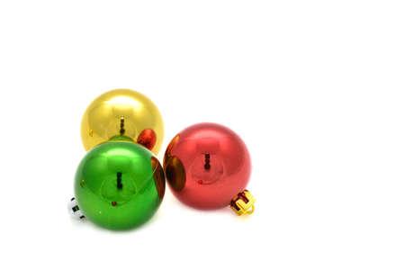 Color decoration balls on white background. Stock Photo - 11676436
