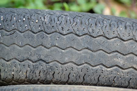 Texture of old and expired tire. photo