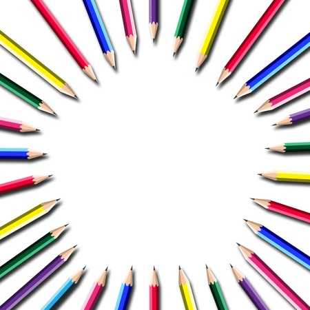attractive pencil frame on white background. Stock Photo - 11904653
