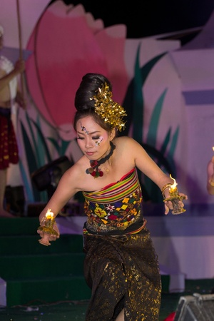 CHIANGRAI, THAILAND - DECEMBER 25: Thai classical dane show during the miss chiangrai contest 2011 at Chiangrai province on December 25, 2011 in Chiangrai, Thailand.
