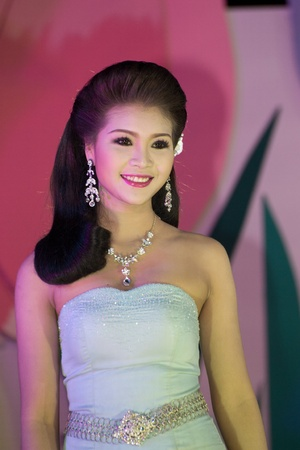 CHIANGRAI, THAILAND - DECEMBER 25: Darunee Pongsri during the miss chiangrai contest 2011 at Chiangrai province on December 25, 2011 in Chiangrai, Thailand.