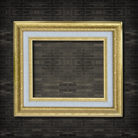 Photo frame on old brick wall. Stock Photo - 12001007