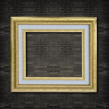 Photo frame on old brick wall. Stock Photo - 12001007