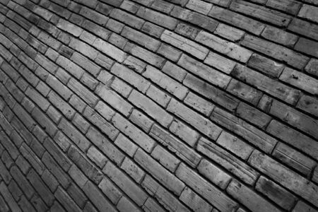 close up of brick wall pattern for background. photo