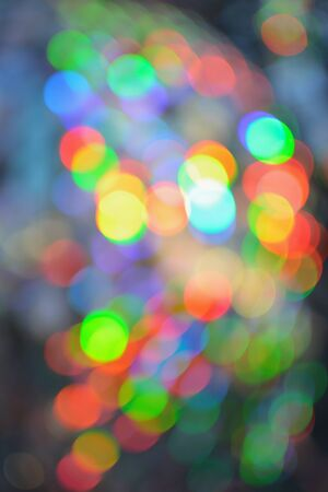 Colorful abstract background reflection light from sun on compact disc. photo