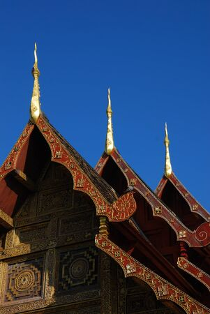 Thai lanna temple at Chiangmai province Thailand. photo