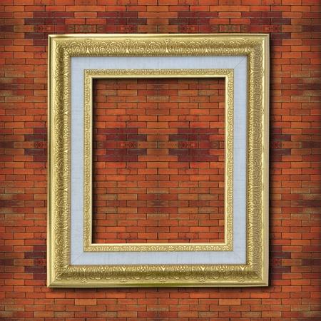 Photo frame on old brick wall. Stock Photo - 12001003
