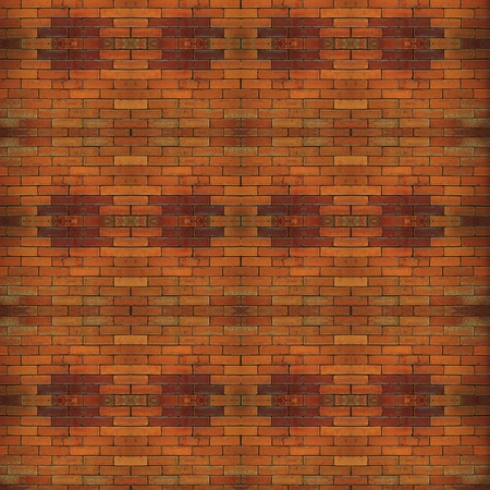 close up of old orange color brick wall. photo