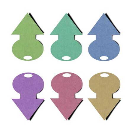 Set of color full paper tag from recycled paper. photo