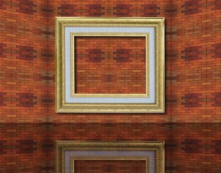 Photo frame on old brick wall. Stock Photo - 12001017