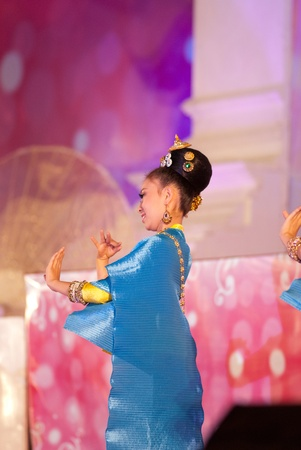 CHIANGMAI, THAILAND - JANUARY 3: Thai lanna style classical dance show during the