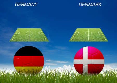 Euro 2012 football competition first round match. photo