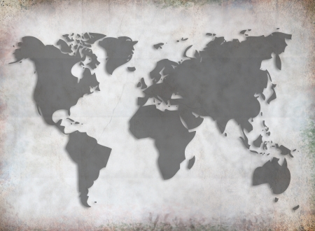 World map on grunge background. photo