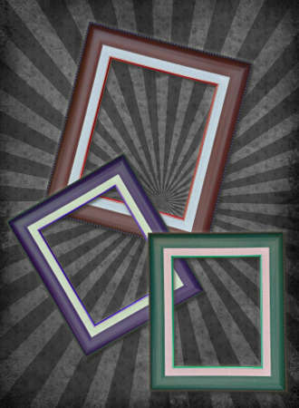 Photo frame on grunge paper close up view . Stock Photo - 12525738