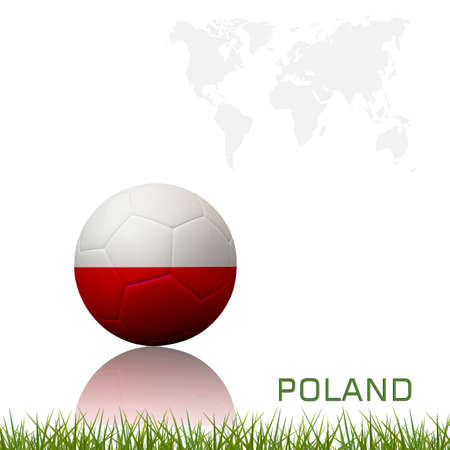 Flag of european football  competition on the soccer ball on white background. photo