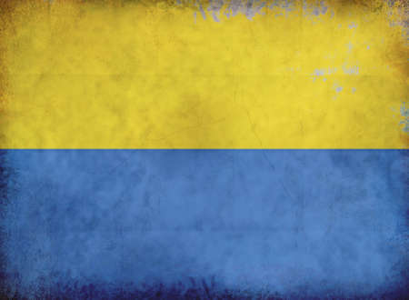 Grunge European flag from old dirty paper background. photo