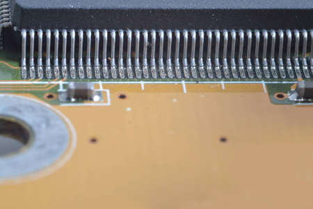 Super macro of electronic material inside computer. Stock Photo - 12606905