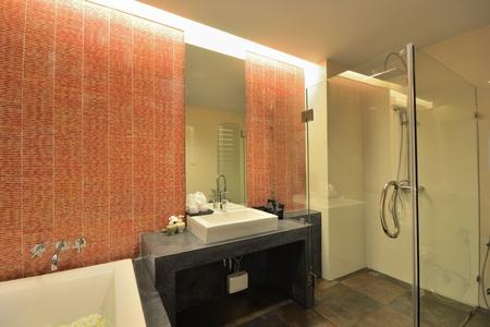 Luxury bathroom interior design for modern life style. Stock Photo - 12819198