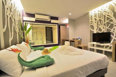 Luxury bedroom interior design for modern life style. Stock Photo - 12819220