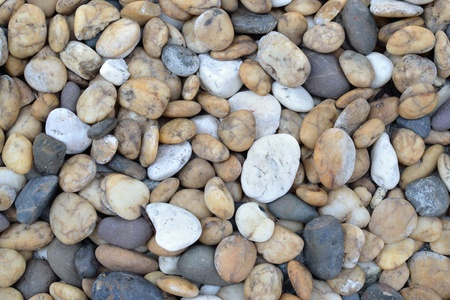 medium close up: Close up view of small stone background  Stock Photo