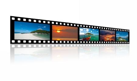 Fotografías de paisajes en las películas antiguas fasion sobre fondo blanco. Foto de archivo - 12838868