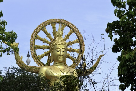 Samui big buddha landmark on samui island thailand. photo