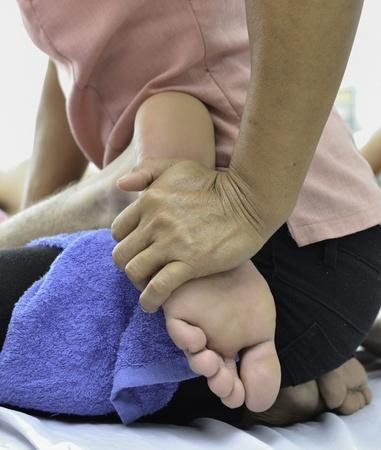 Famous Thai massage  ,therapist action on customer. Stock Photo - 13197172