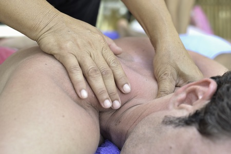 Famous Thai massage  ,therapist action on customer. Stock Photo - 13197174